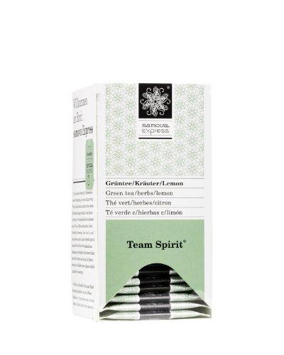 Samova Team Spirit Express - Grüntee/Kräuter/Lemon (20 Beutel  1,1g), 1er Pack (1 x 22 g)