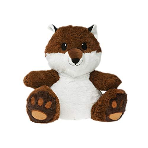 Fluffy Fox Kettle, PELR, Brown, White