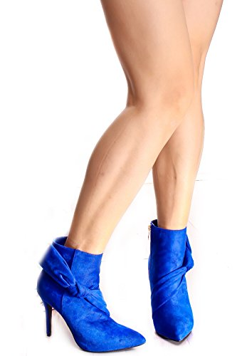 Lolli Couture Triple Sangle Plate-forme 6 Pouces Haut Talon Royalblue-fellow