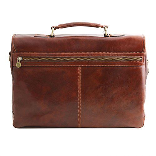 briefcase Leather SMART Mantova with flap compartment Tuscany Honey Honey TL Leather multi ZEZq0