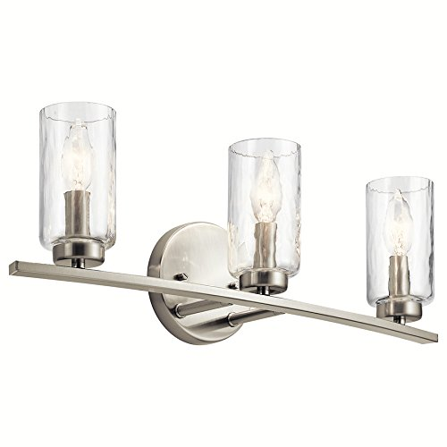 Kichler Marita 3-Light 22-in Brushed Nickel Cylinder Vanity Light by KICHLER (Image #3)