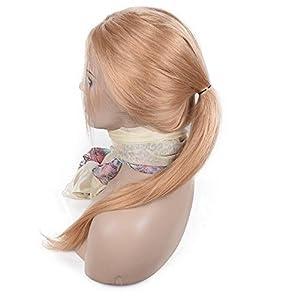 iVogue Hair #27 Honey Blonde Human Hair Full Lace Wig Virgin Brazilian Human Hair Wigs Silky Straight with Baby Hair 7A Grade Virgin Hair 16inch-22inch 130denisty (22inch)
