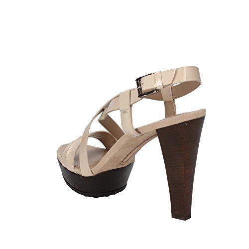 scarpe donna TOD'S 40 EU sandali beige vernice ap578