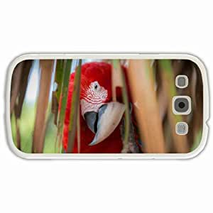 Personalized Samsung Galaxy S3 SIII 9300 Back Cover Diy PC Hard Shell Case Macaw White