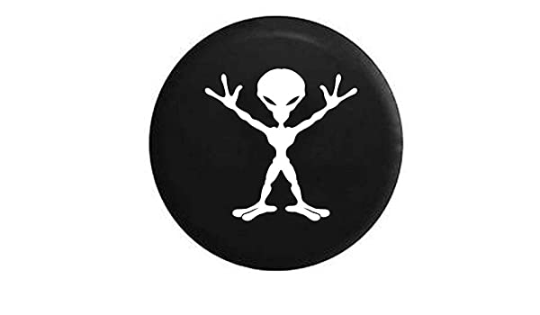 Pike Outdoors Alien Outer Space RV Spare Tire Cover Black 27.5 in