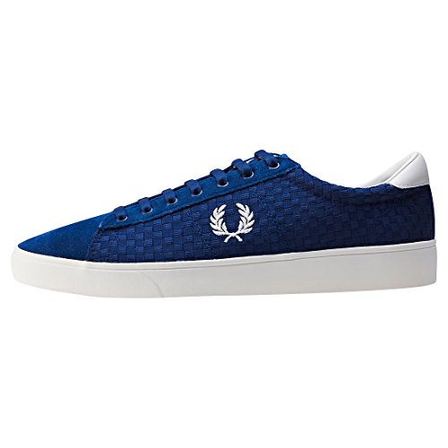 Fred Perry Spencer Woven Checkerboard Hommes Baskets