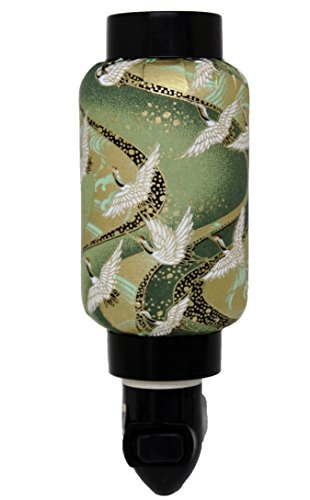 Green Cranes Oriental Japanese Washi Night Light Lamp Candle Home Decor Birthday Housewarming Congratulatory Blessing Gift US - Home Blessing Paper