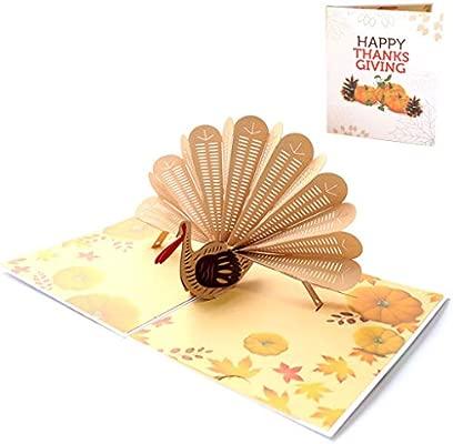 Eliky - Tarjetas de felicitación 3D con diseño de pavo real ...