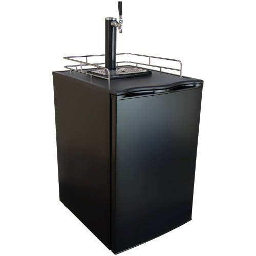 Keggermeister KM2800BK Kegerator Full-Size Single-Tap Beer Refrigerator and Dispenser, (Pony Keg Dispenser)