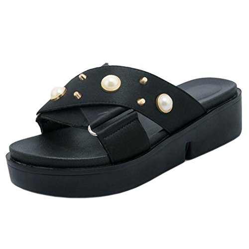 1 Sin Coolcept Cordones Mujer Mulas Zapatos Black aSHwYa