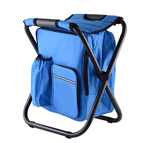 Aishankra Multi-Function Outdoor Folding Stool Chair Portable Picnic Basket Backpack Ice Pack Small Refrigerator Suitable for Fishing Beach Barbecue Sketching Garden Use,A from Aishankra