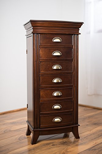 Hives & Honey Hillary Jewelry Armoire, Large, Walnut