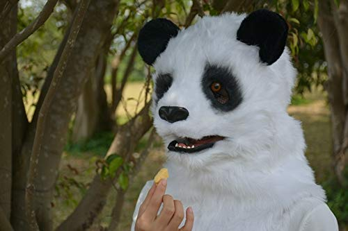 maschera panda bocca bambino