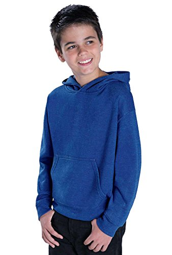 LAT Apparel Youth Pullover Fleece Hoodie - Large - Navy by LAT