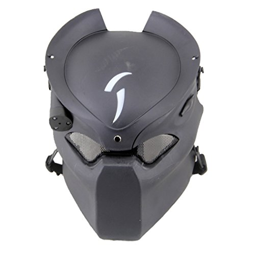 Outgeek Outdoor CS Games Costume Mask Ventilate Protective Face Mask with Infrared Lamp for Halloween Masquerade Cosplay]()