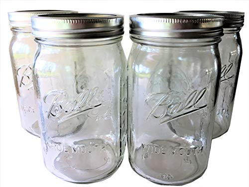 Ball Mason Jar-32 oz. Clear Glass Wide Mouth - Set for sale  Delivered anywhere in USA