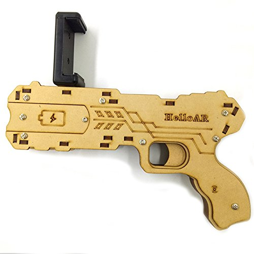 Price comparison product image Handheld AR Game Console, Loyalfire AR Bluetooth 4.0 with Modern Ultra-Thin Design Handheld Game Console, Safe Environmentally Friendly Real Gaming Experience, for Kids Children (Revolver Gun)
