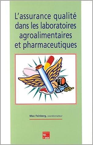 Livres L'assurance qualité dans les laboratoires agroalimentaires et pharmaceutiques pdf