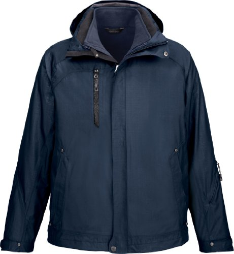 NE MEN CAPRICE 3 IN 1 JKT (CLASSIC NAVY 849) (3XL) by Ash City - North End