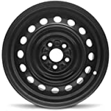 Road Ready Car Wheel for 2003-2008 Toyota Corolla 15 inch 5 Lug Black Steel Rim Fits R15 Tire - Exact OEM Replacement…