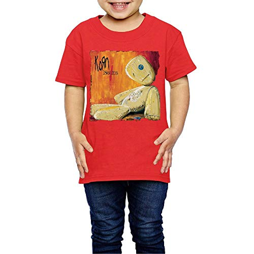 Baby Korn Issues Casual Style Short Sleeve Top T-Shirt Boys Girls Casual Style Tee 3 Toddler Red (Printed Korn T-shirts)