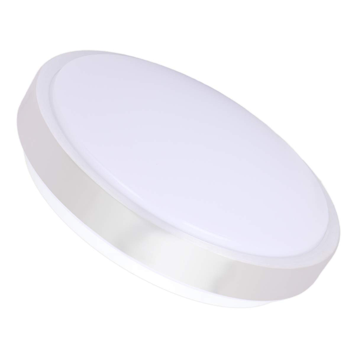 Drosbey 24W LED Ceiling Light, 12in Flush Mount Ceiling Lighting for Kitchen, Bathroom, Bedroom, Hallway, 3000 Lumens, 5000K Daylight White, 240W Incandescent Bulbs Equivalent