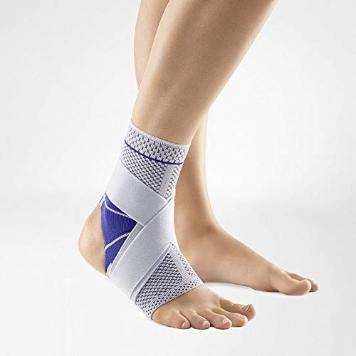 Bauerfeind - MalleoTrain S Open Heel - Ankle Support - Heel Cut Out for Maximum Ankle Stability - Right Foot - Size 2 - Color Titanium