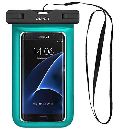 Waterproof Phone Pouch, IPX8 Cellphone Dry Case Bag Compatible with iPhone Xs,XR,XS MAX,X 8,7,6s Plus,SE,Galaxy S9,S8+,s7 Edge LG,Diagonal to 6