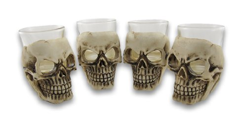 Sinister Skull Shot Glass Set of 4 -