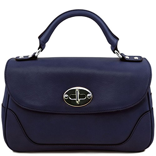Tuscany Leather TL NeoClassic Lady leather duffel bag Dark Blue by Tuscany Leather