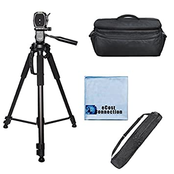 72 Inch Elite Series Full Size Camera Tripod for DSLR Cameras//Camcorders /& eCostConnection Microfiber Cloth