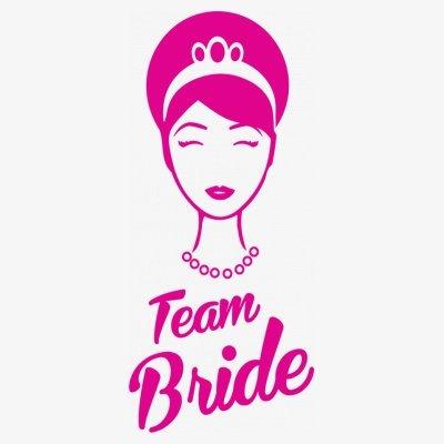 Sudadera con capucha de mujer Team Bride Princess Head by Shirtcity Blanco