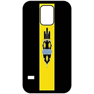 Pittsburg Pennsylvania PA City State Flag Black Samsung Galaxy S5 Cell Phone Case - Cover