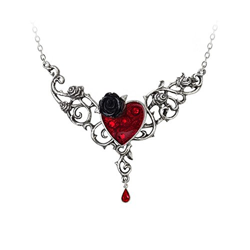 (Alchemy Gothic Blood Rose Heart Necklace)