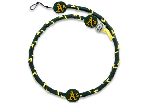 MLB Oakland Athletics Team Color Frozen Rope Baseball Necklace (Necklace Mlb Genuine)