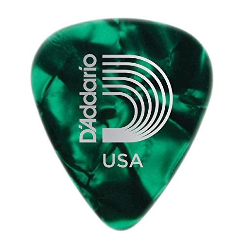 Planet Waves Green Pearl Celluloid Guitar Picks, 25 pack, Heavy (Guitar Waves Green Planet Picks)