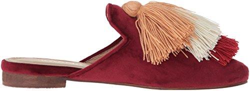KAANAS Slide with Velvet Women's Mompox Wine Flat Shoe Tassels Mule HqRHf4w