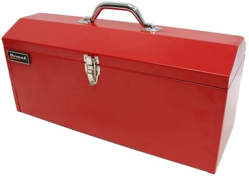 Homak 19-Inch Steel Hip-Roof Tool Box, Tall, Red, RD00119819