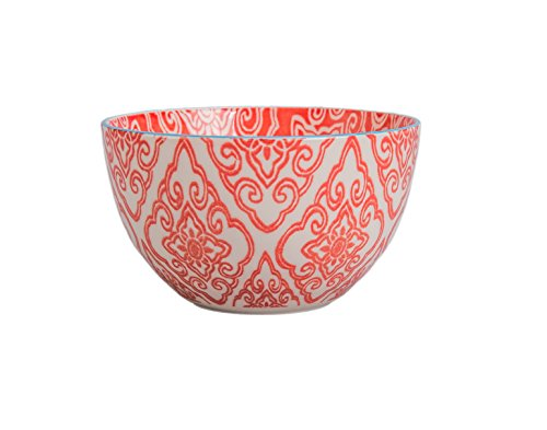 03+B88KS4SIOC Ooh La Bandana Bowl, Bandana/Red (Bia Cordon Bleu Stoneware Bowls)