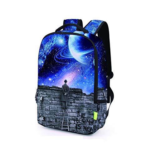 E Backpack 3D Travel Galaxy Bag FwFxCqIU