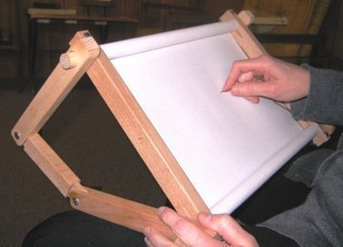 Fa Edmunds Flexible 9 Inches X 18 Inches Needlework Embroidery Adjustable Lap Or Table - Lap Frame Needlework