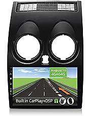 YUNTX Android 10 2 Din Autoradio for Nissan Qashqai J10(2008-2014)-4G+64G-[Ingebouwd CarPlay/Android auto/DSP] -Octa Core- Gratis 4-LED-Camera &MIC-Support DAB/Stuurbediening/360 Camera/MirrorLink
