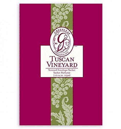 Greenleaf Large Sachet, Tuscan Vineyard, 18 Packs by Greenleaf Gifts