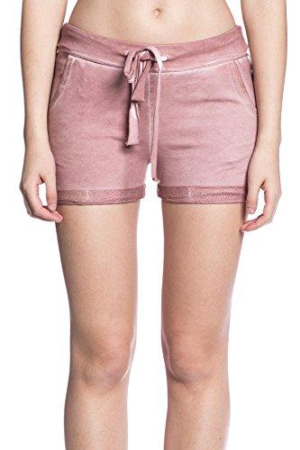 Abbino 5078 Pantalones Cortos para Mujer - Hecho en ITALIA - 5 Colores - Entretiempo Primavera Verano Otoño Casual Fashion Elegantes Fiesta Rebajas Estilo Clásico Short Algodón Rosa