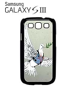 Banksy Peace War Bird Peagon Target Cell Phone Case Samsung Galaxy S3 Black