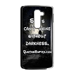 "Canting_Good ""Stars Can't Shine Without Darkness"" Black and White Custom Case Shell Cover for LG G2"