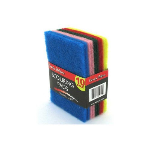 Multi-colored scouring pads - Pack of 80 by Handy Helpers
