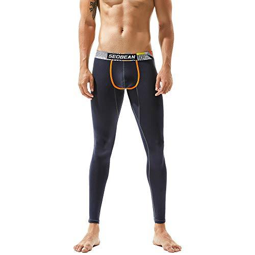 Peluche Pantalons Caleçons Étendue Chaud Leggings Thermique Épais Hiver Roiper Souple Hommes Grisfoncé Maigre Longue Cuir Bas 5wqU6t