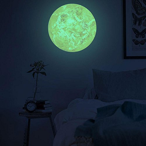 30cm Luminous Wall Stickers Moonlight Home Decor Yellow - 3