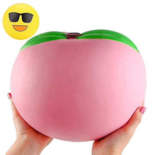 WATINC 2pcs 10inch Jumbo Squishies Peach Slow Rising Fruit Peach Cream Scented Kawaii Peach Toy Random Emotional Toy Funny Network Emotion Toy Stress Relief Toy Decoration Kids Toy Adults